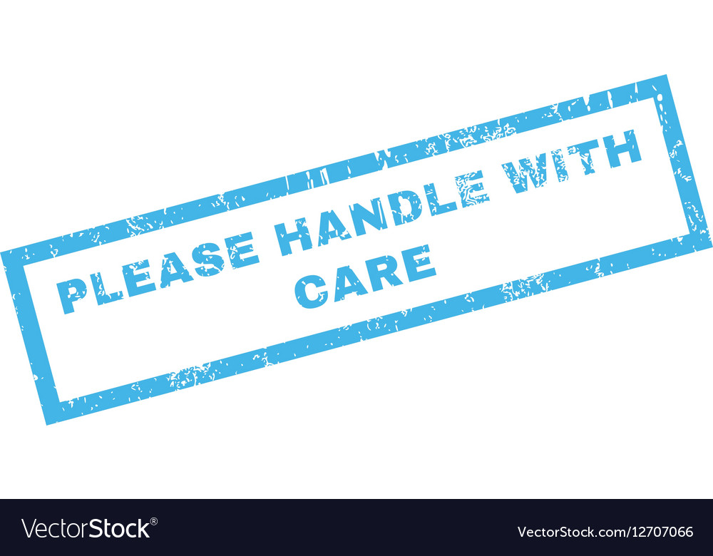 Please Handle With Care Rubber Stamp vector image