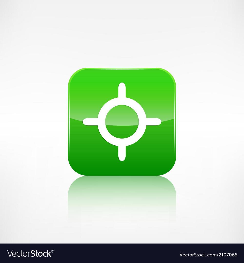 Pointer web icon Application button