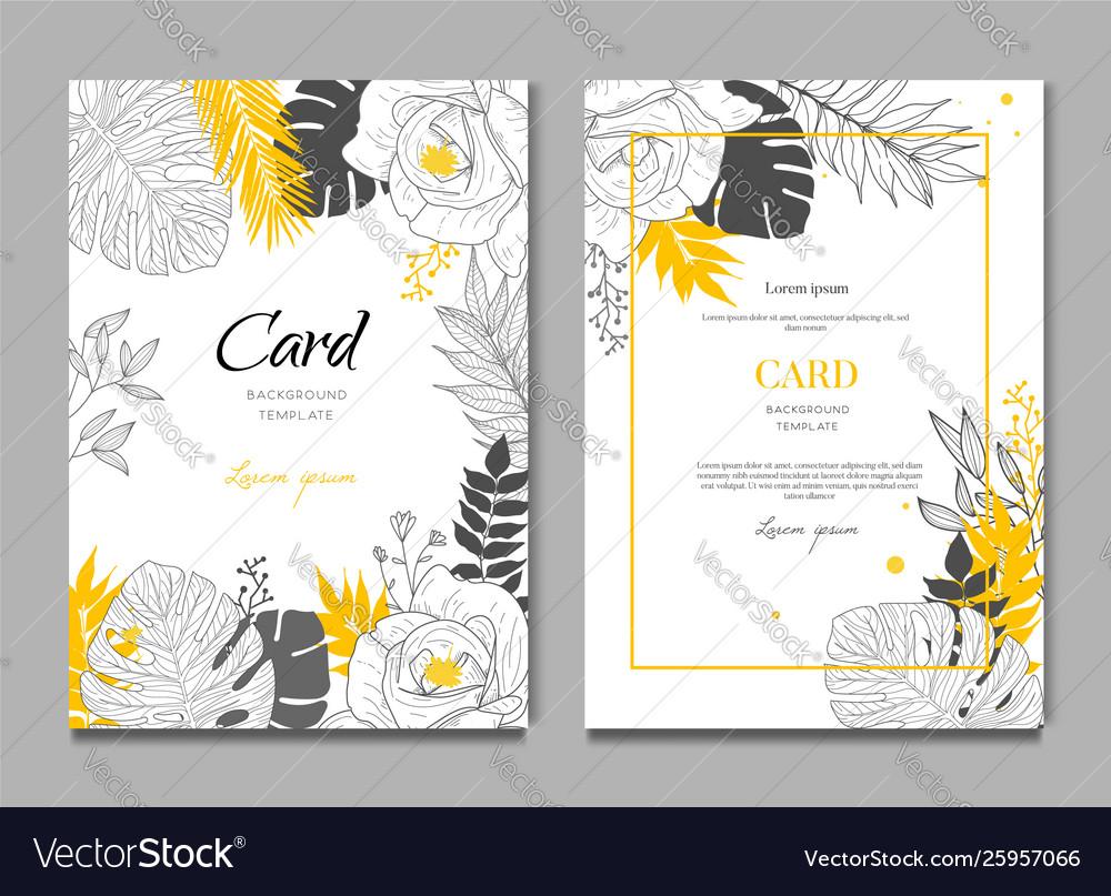 Summer tropical wedding floral frame background