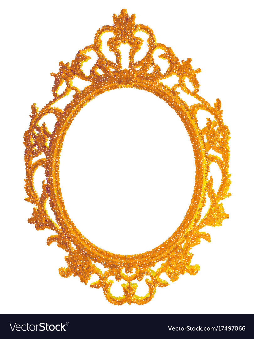 Vintage gilded frame on white background Vector Image