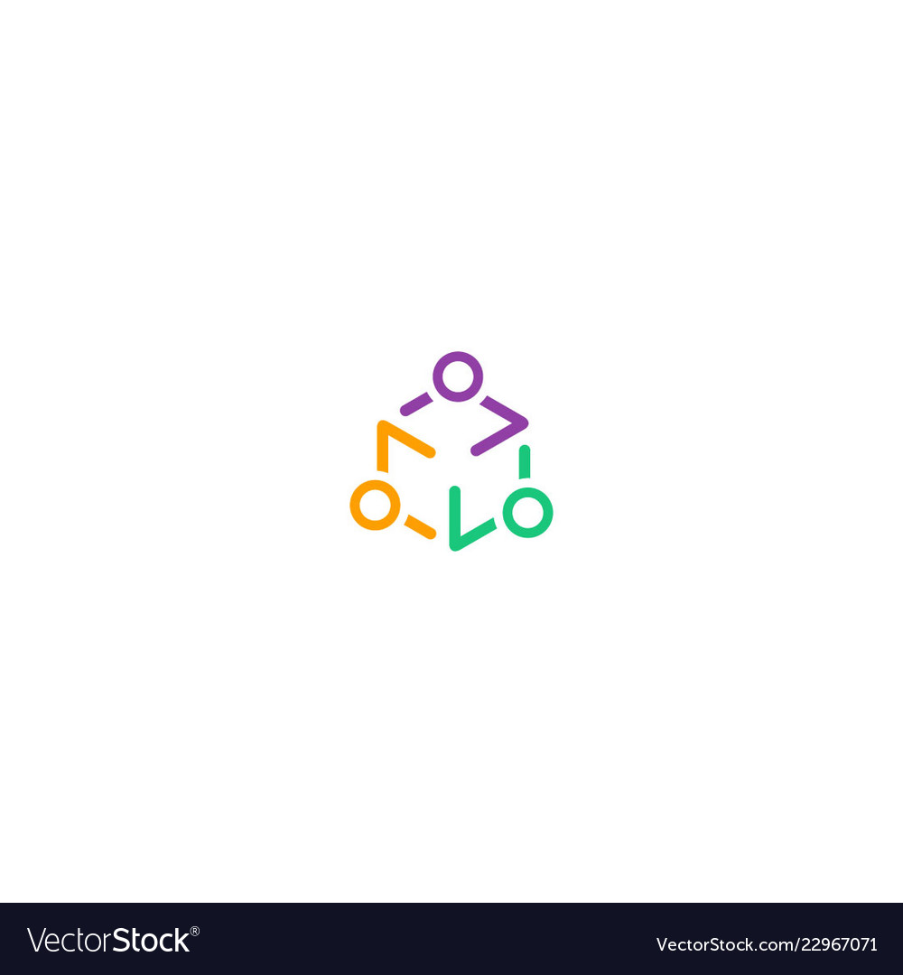 Circle group abstract people logo