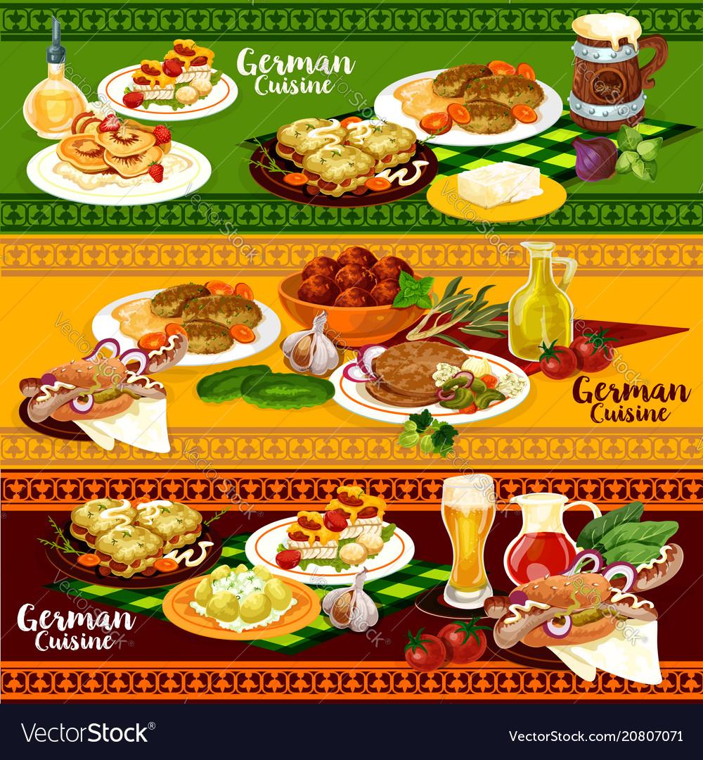 German cuisine restaurant banner for oktoberfest