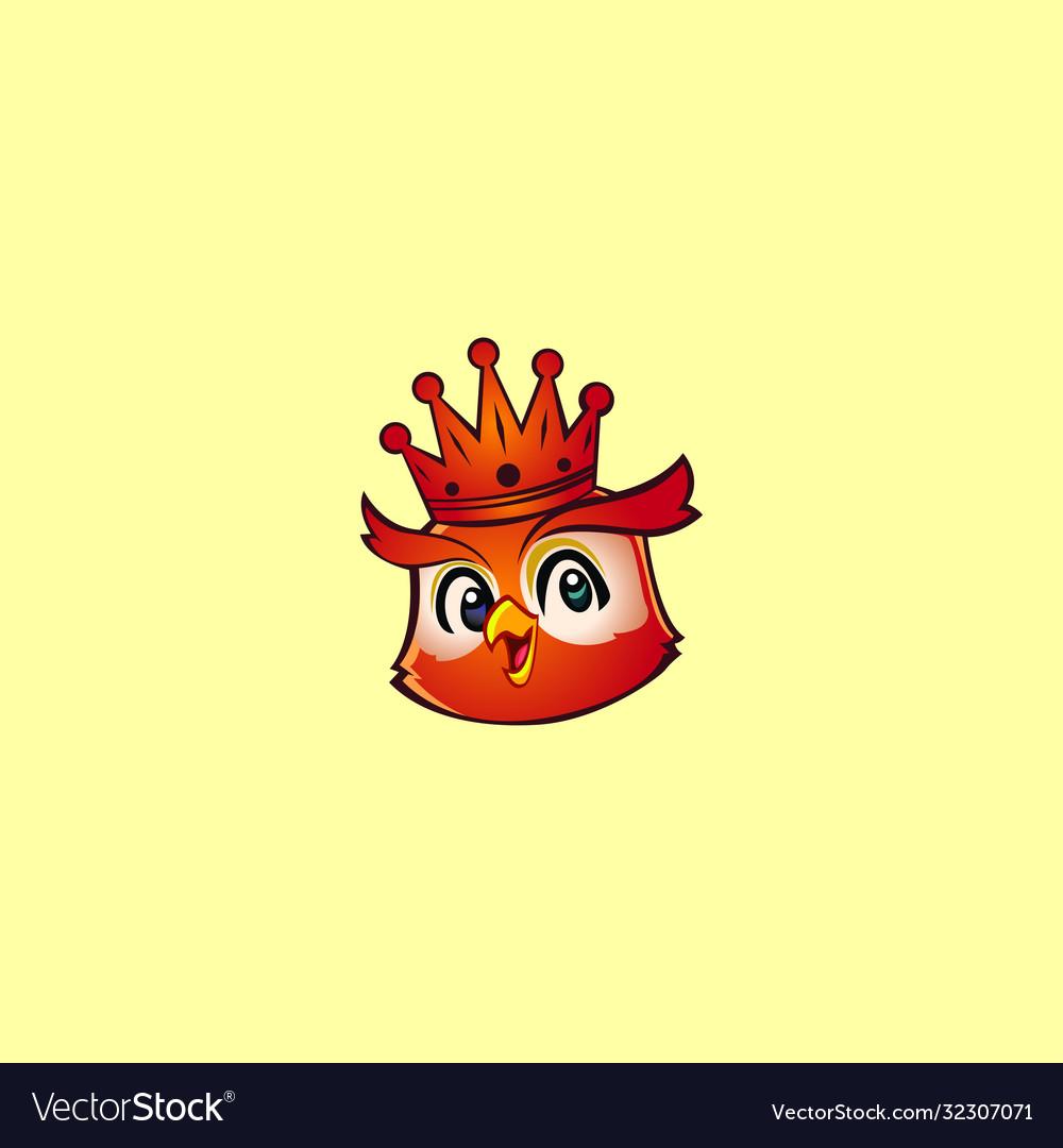 King owl mascot logo