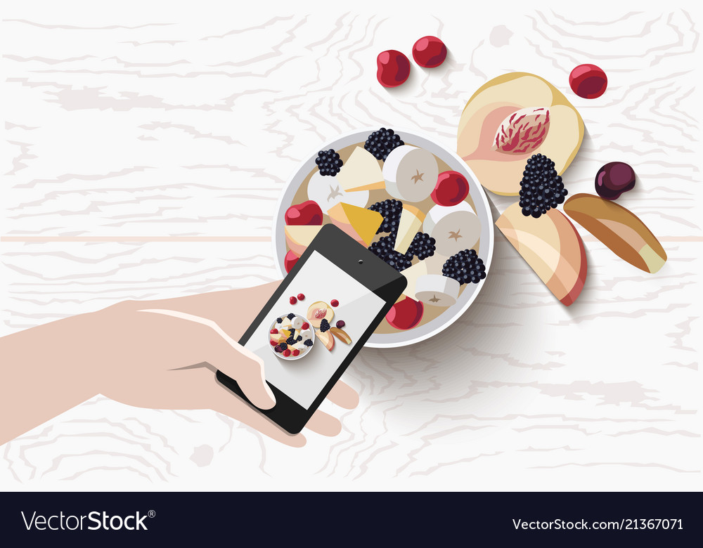 Mobile food photo scene
