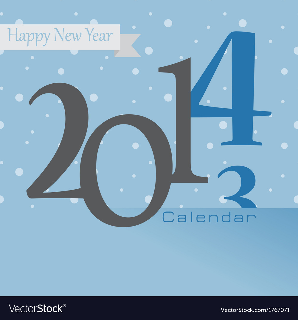 New year greetings card of 2014 happy holidays vector image m4hsunfo