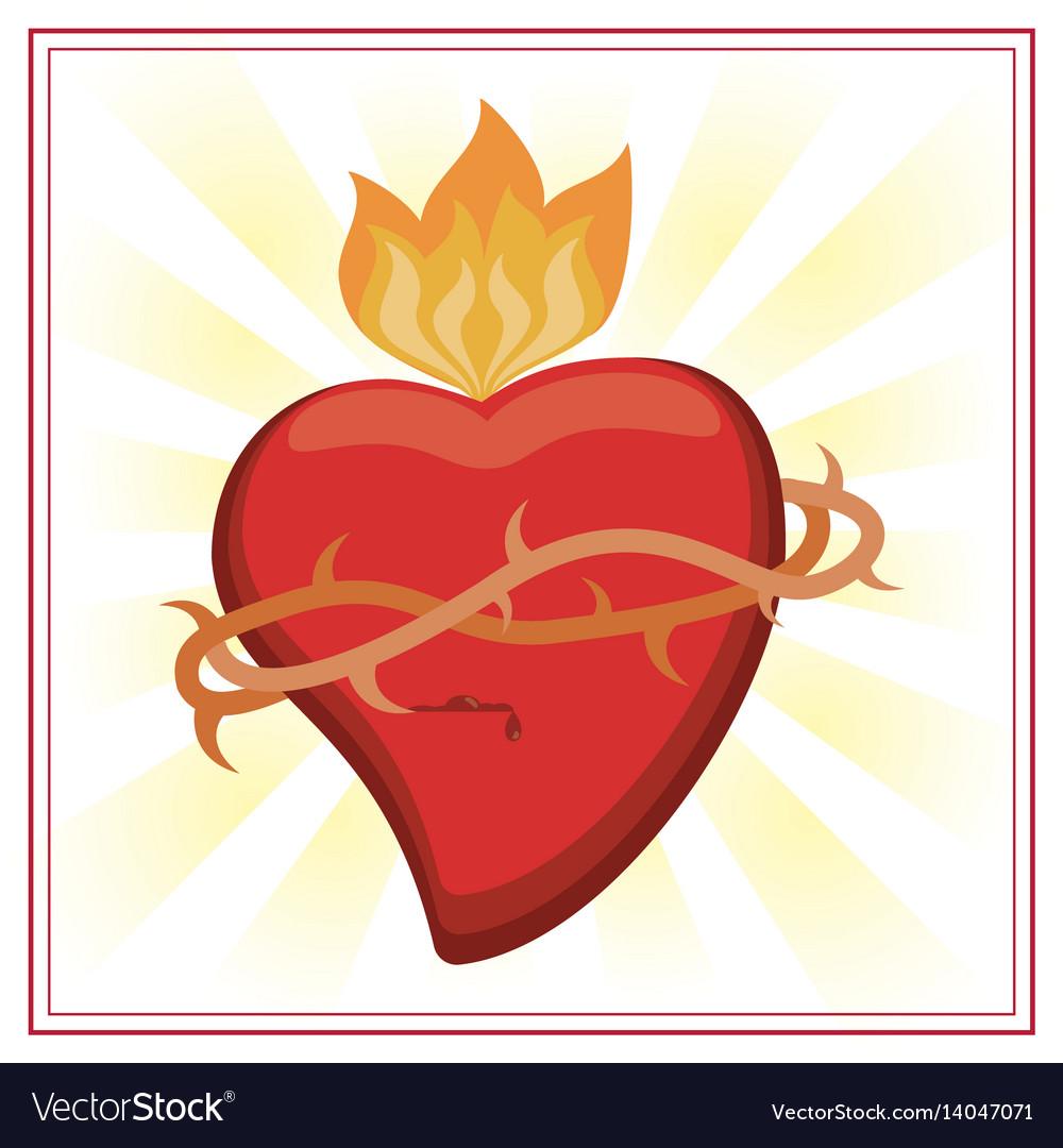 Sacred heart jesus christ image