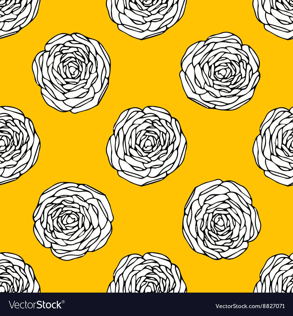 Seamless Floral Wallpaper Royalty Free Vector Image