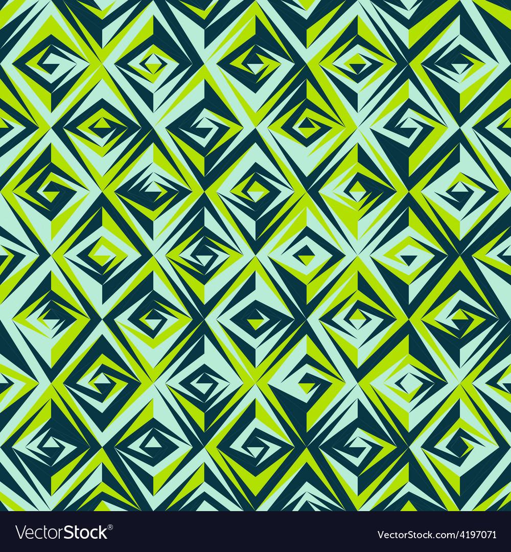 Vintage green mosaic seamless pattern