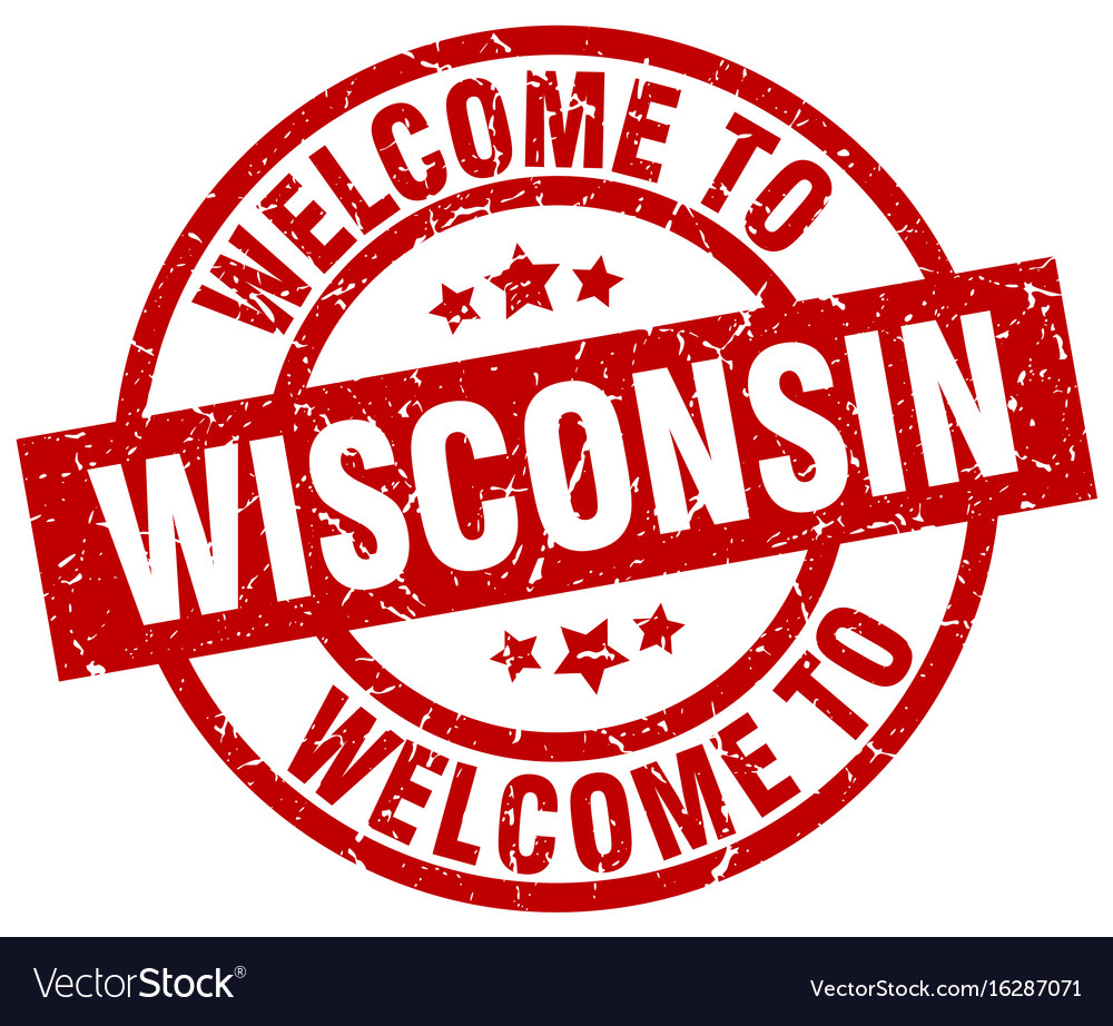 Welcome To Wisconsin Red Stamp Vector Image