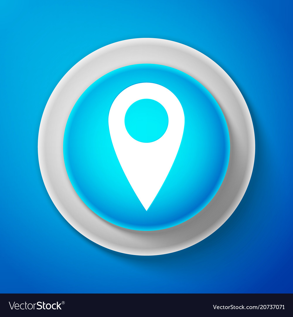 White map pin icon pointer symbol location sign