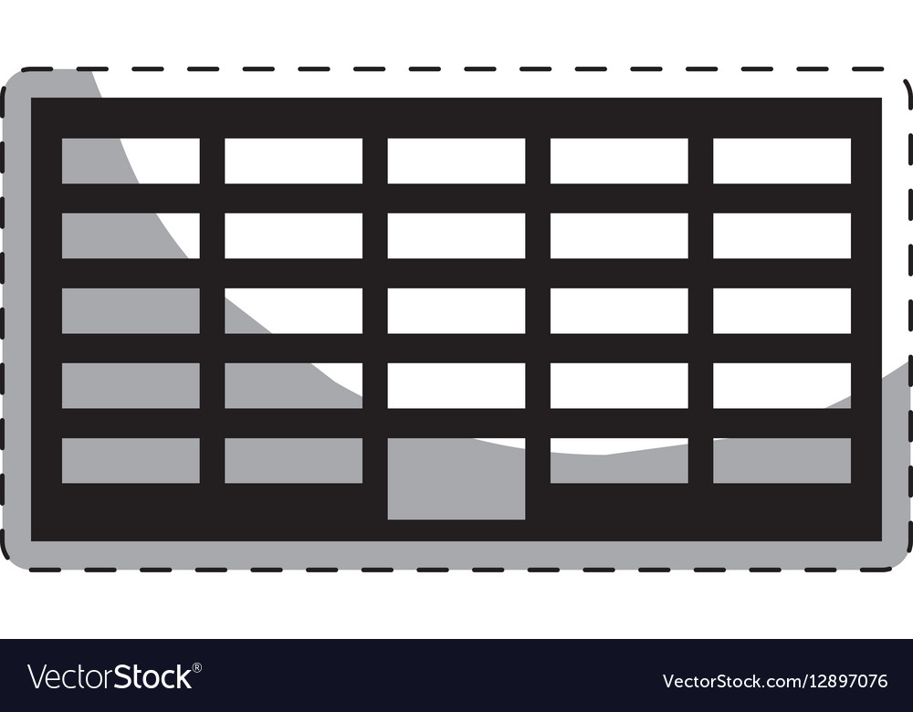 Black city office building line sticker