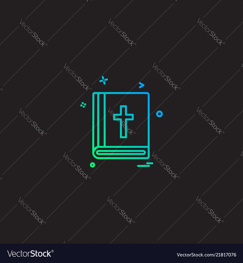 Holy bible icon design