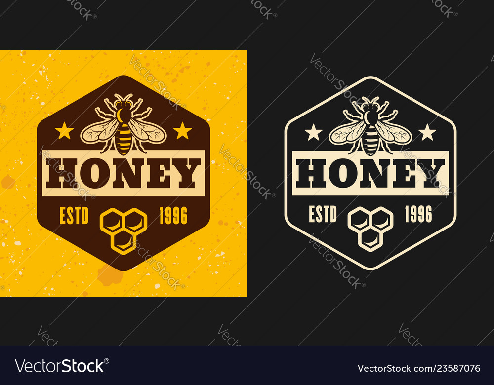 Honey and honeybee two styles emblem