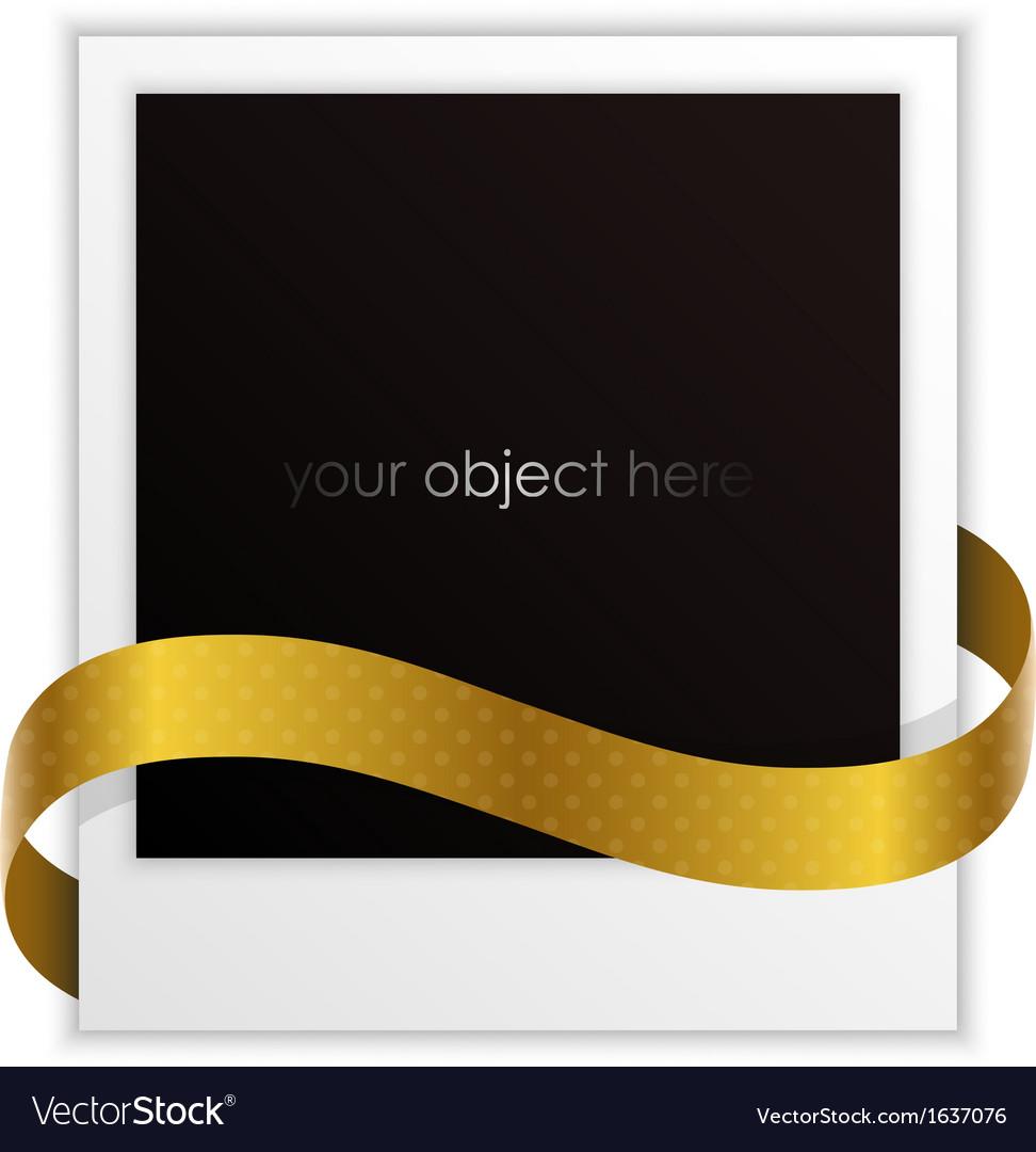 Polaroid ribbon vector image