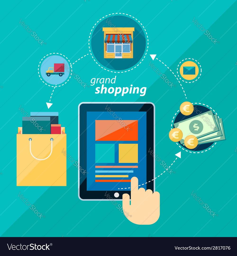 Shoping flat icon