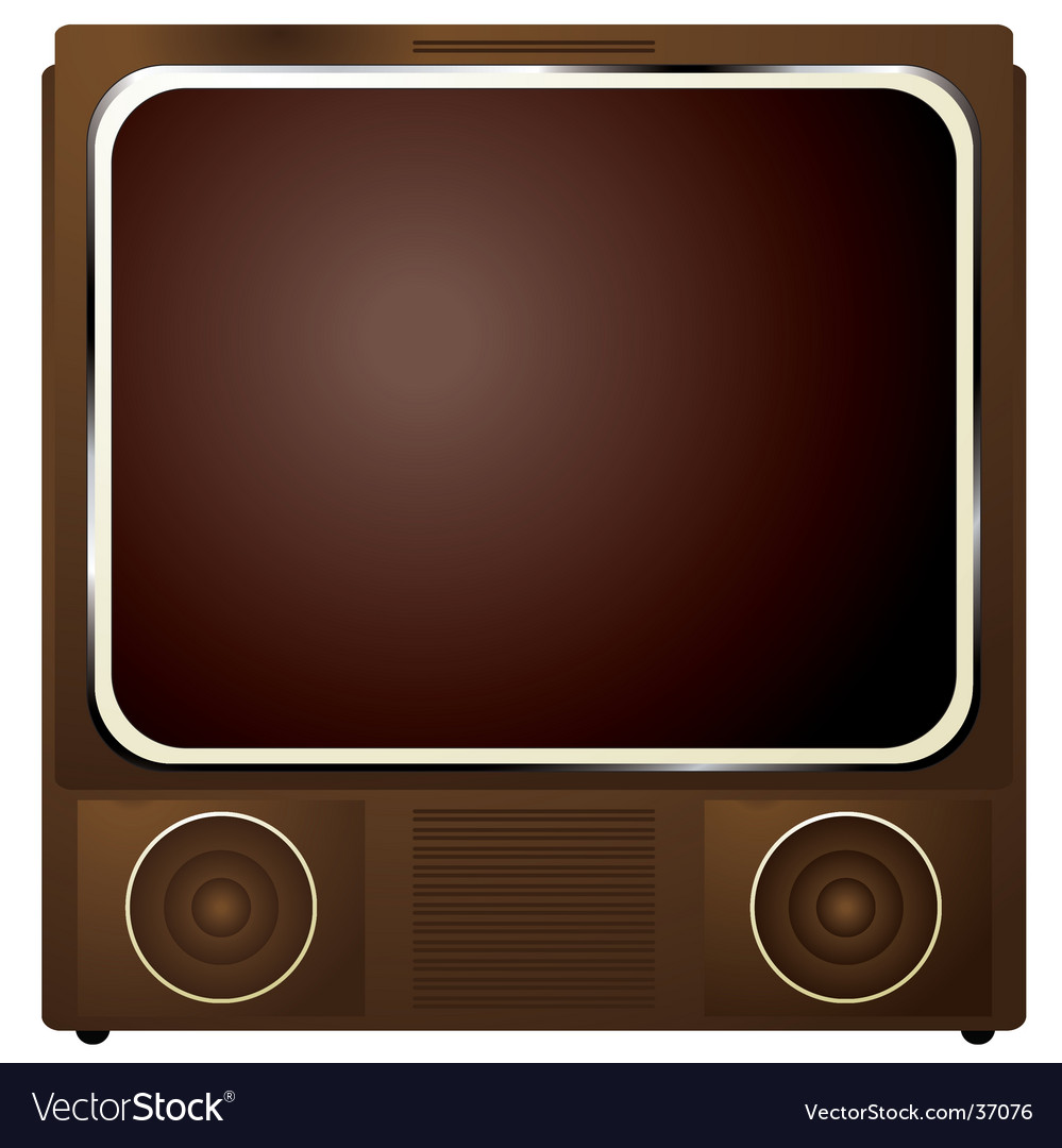 Square TV vector image