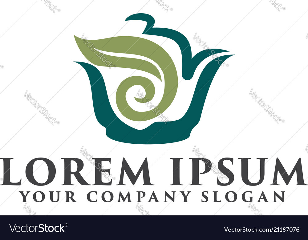 Tea green logo design concept template