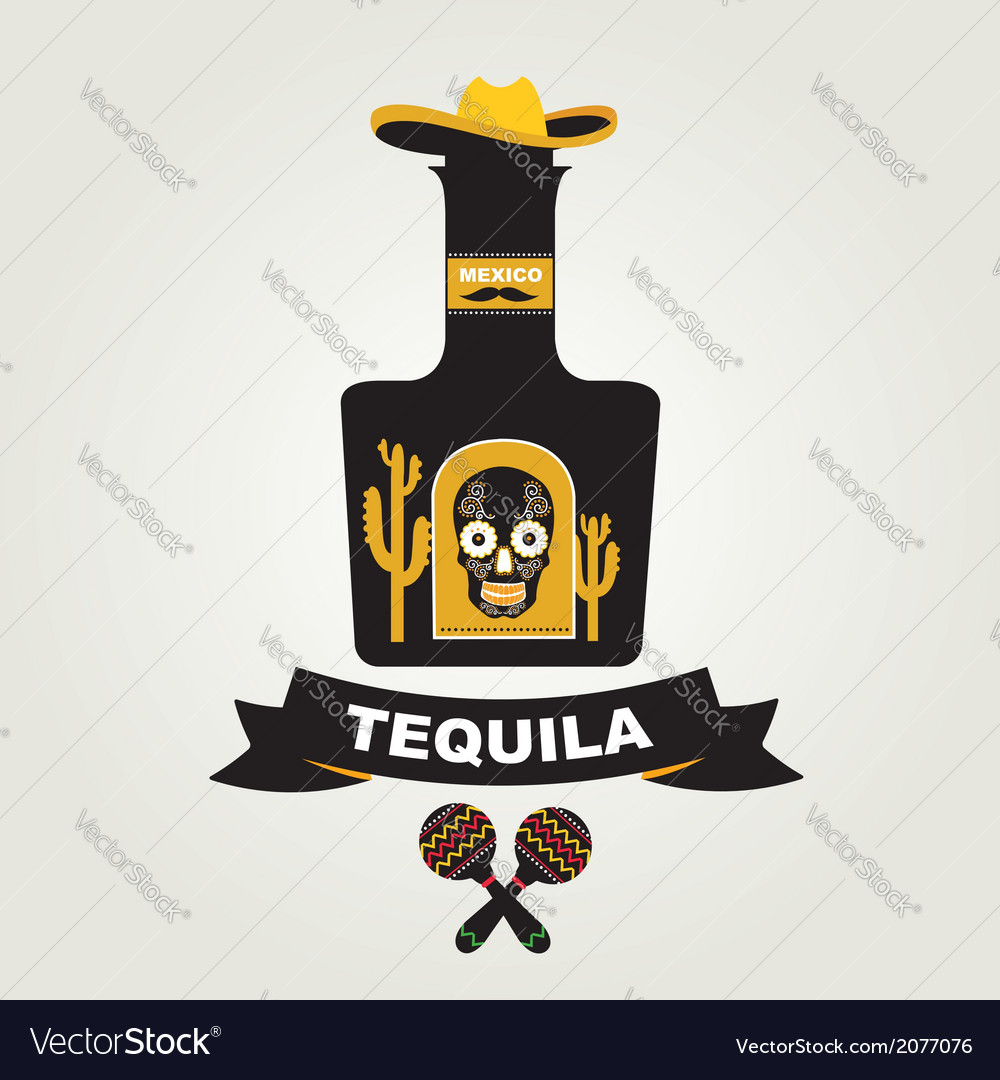 Tequila menu design Mexican drink