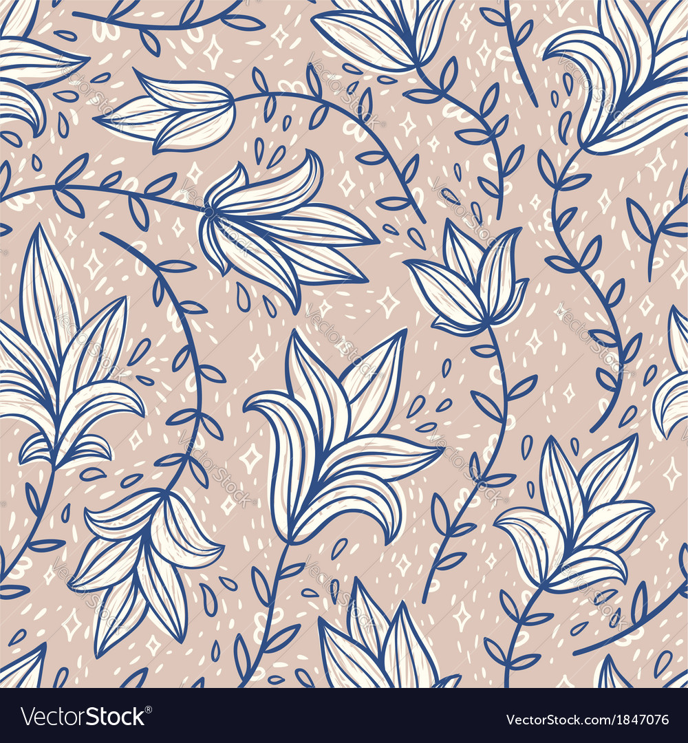 Vintage doodle pattern