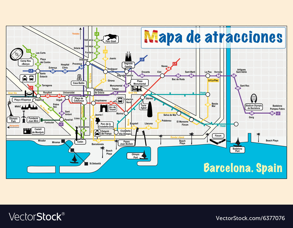Welcome to Barcelona attractions on map