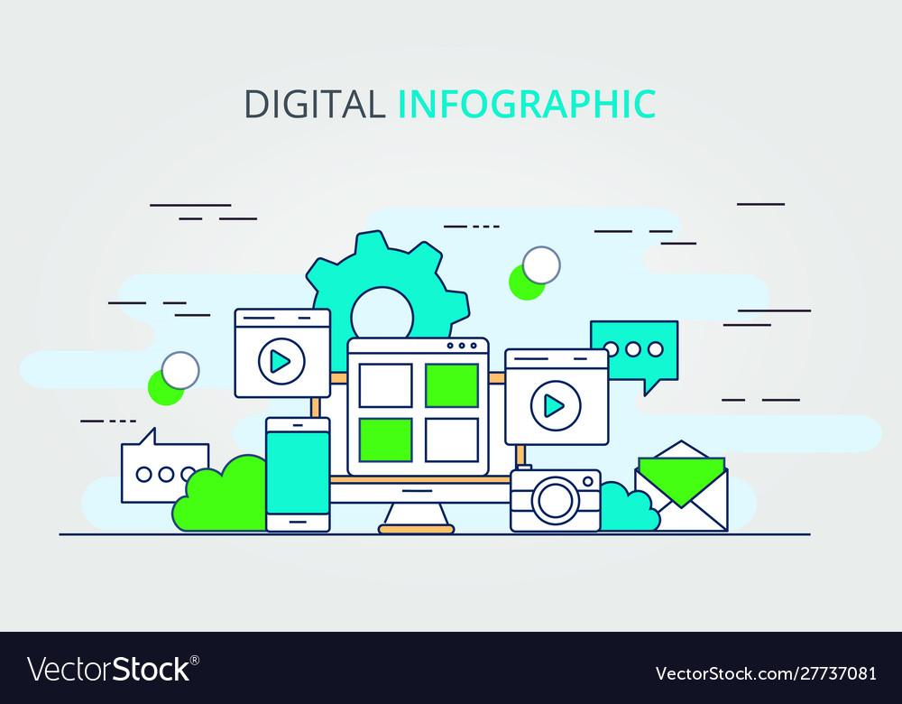 Digital data infographic design