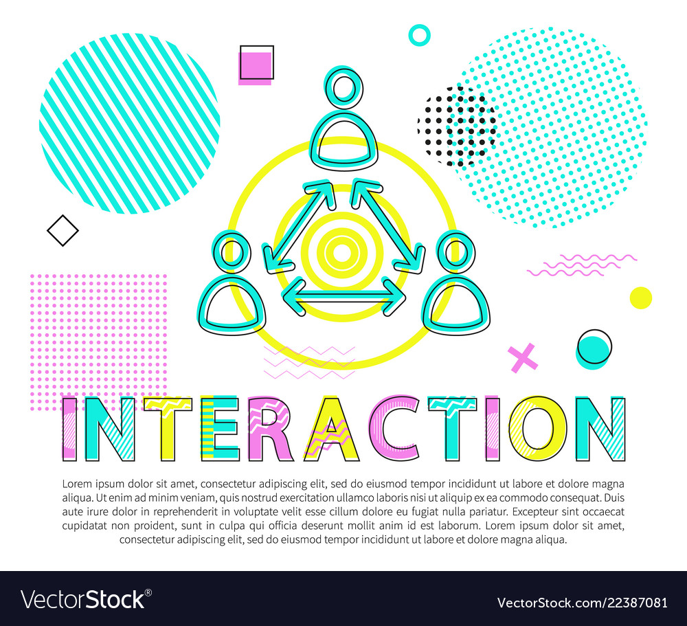 Interaction between people abstract banner