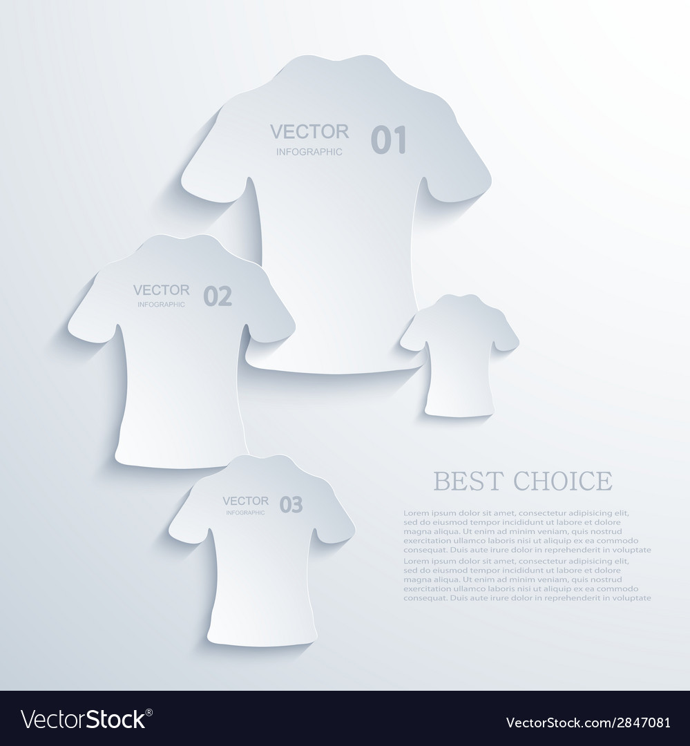 Modern t-shirt background vector image