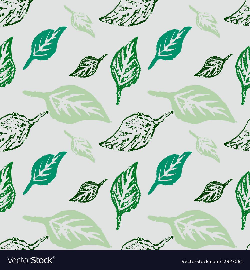 Seamless botanic pattern vector image