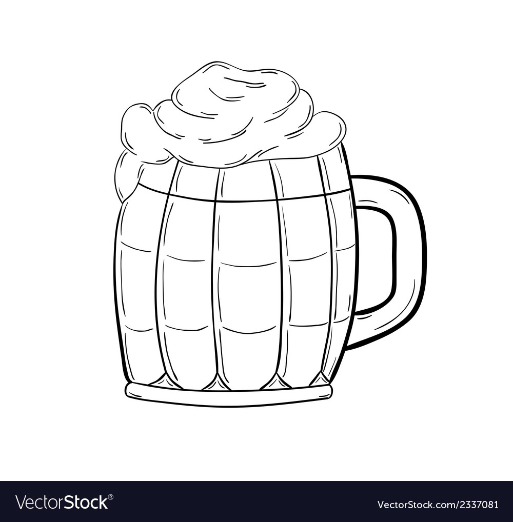Sketch of the beer vector image