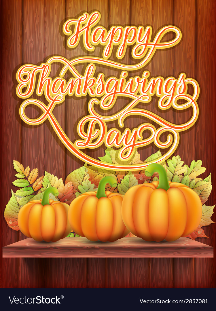 Thanksgiving day card with pumpkin eps 10