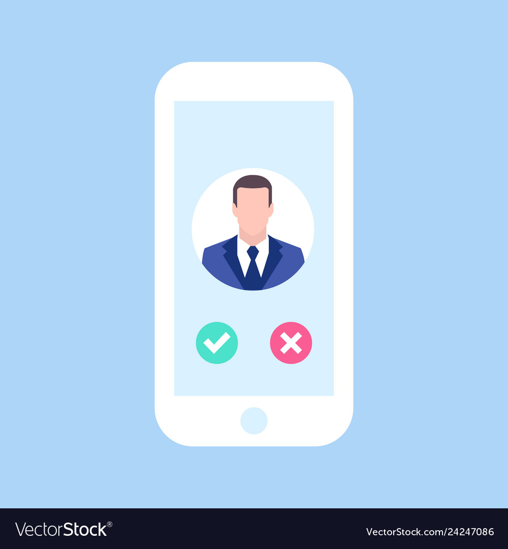 Avatar man in phone man call me business concept