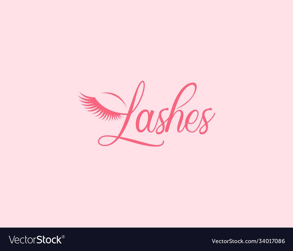 Beauty lashes logo design