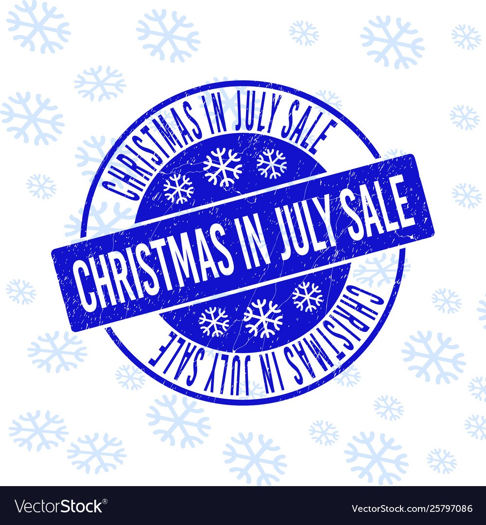 Christmas In July Sale Images.Christmas In July Sale Scratched Round Stamp Seal
