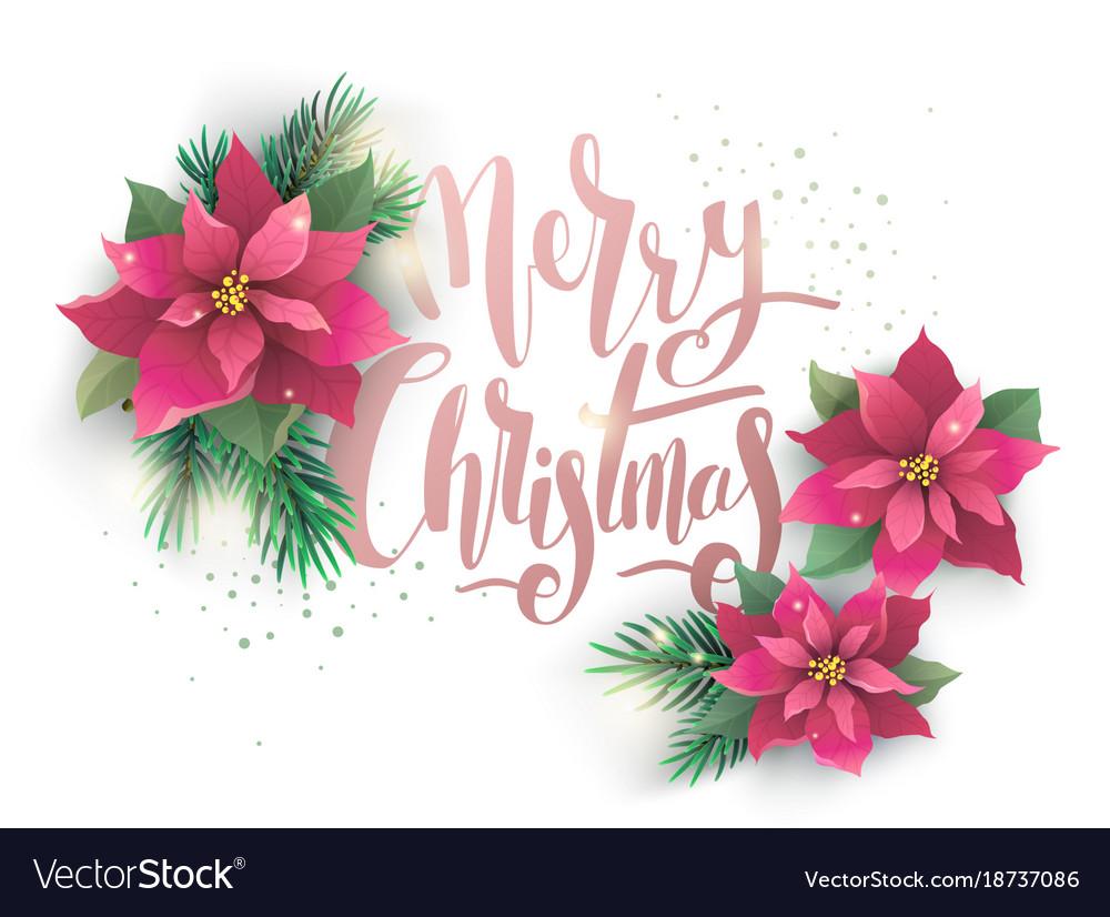 Christmas poinsettia design card