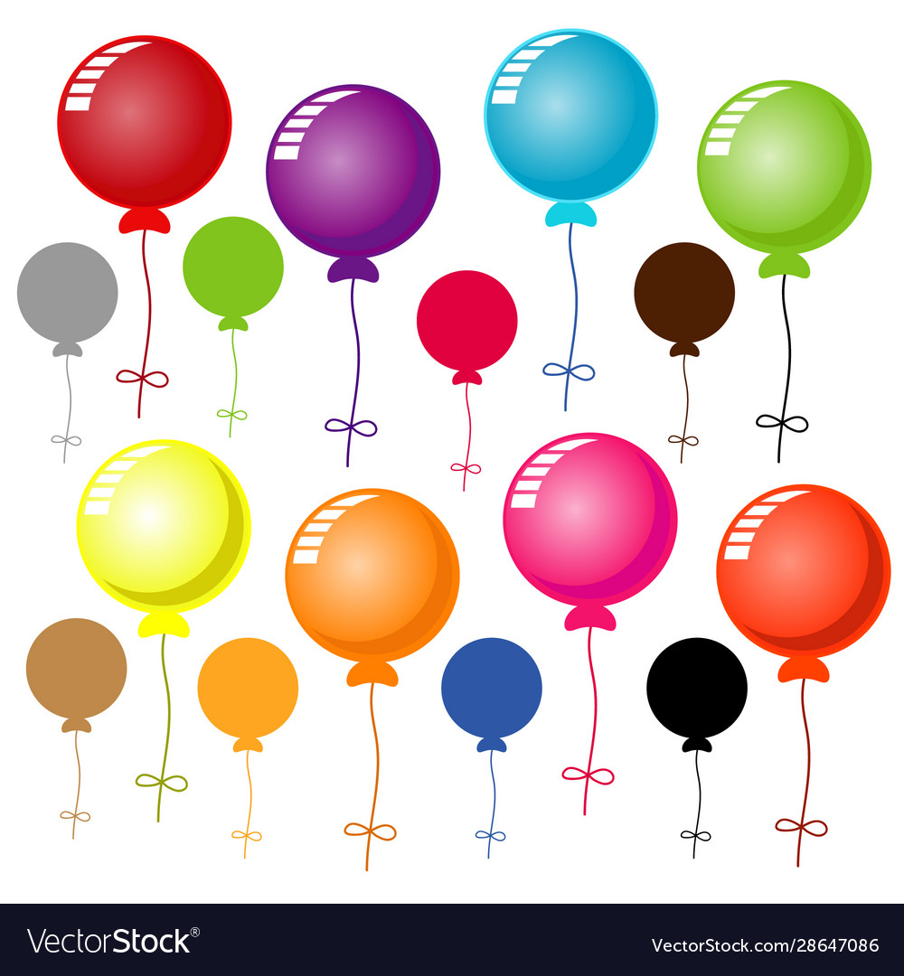 Colorful balloon on white background
