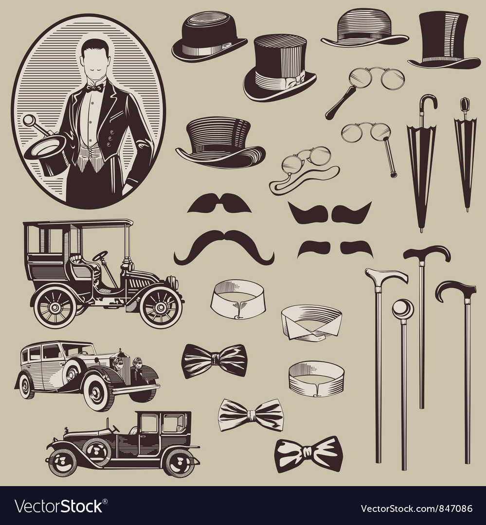 Gentlemens Accessories and Old Cars