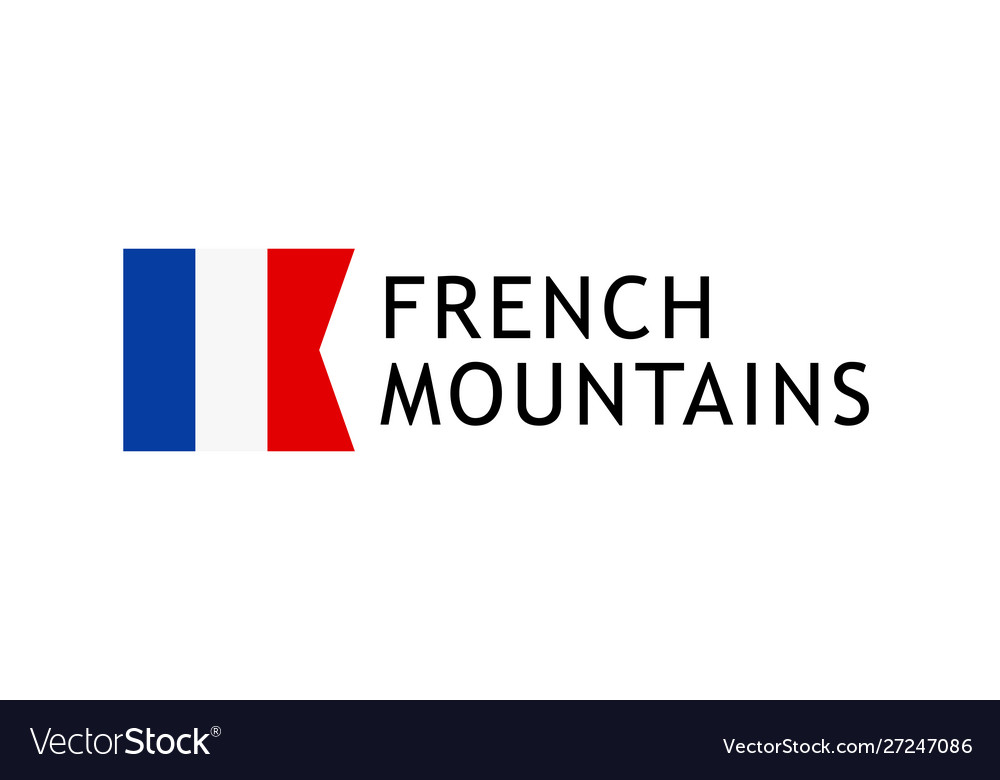Logotype template for tours to french alpine