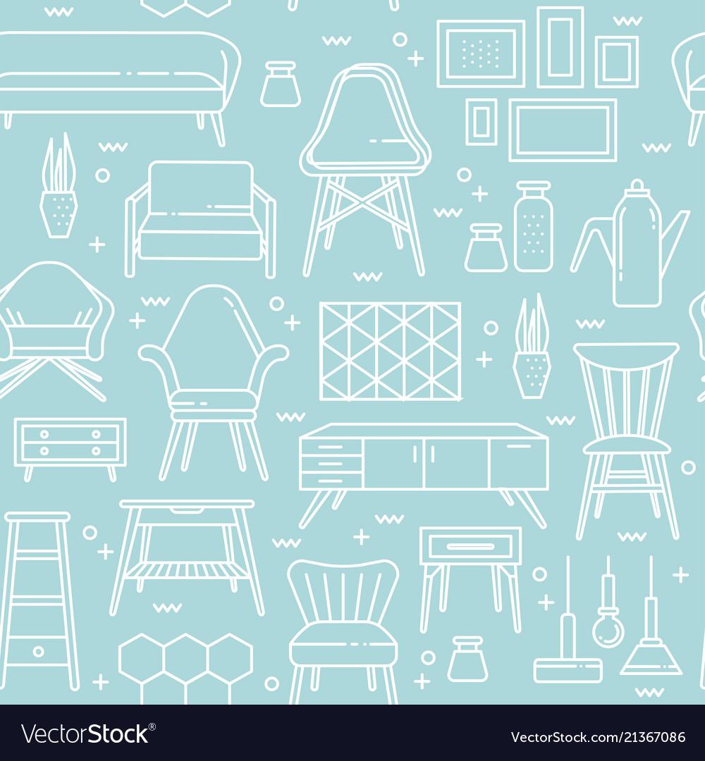 Scandinavian furniture line style