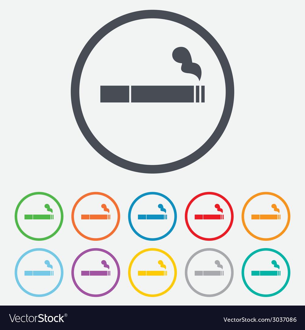 smoking sign icon cigarette symbol royalty free vector image