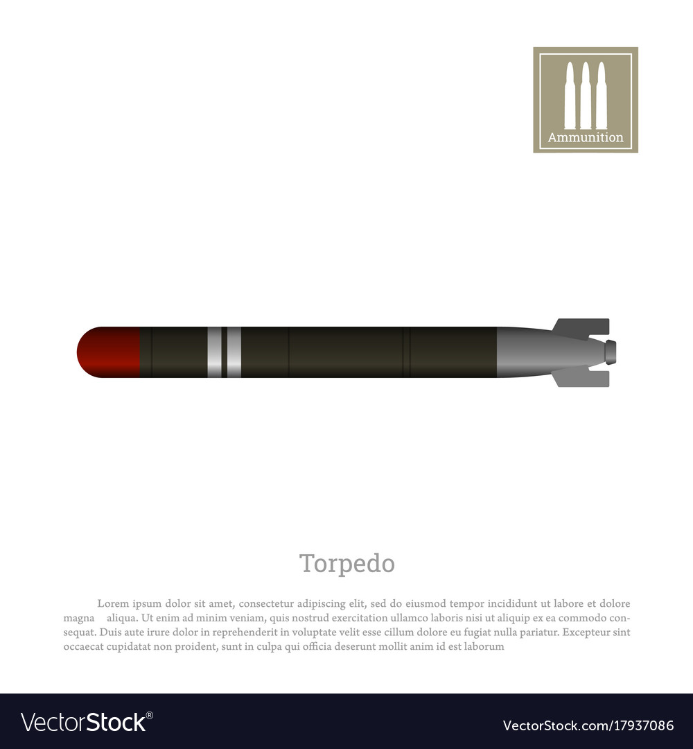 Torpedo drawing on a white background