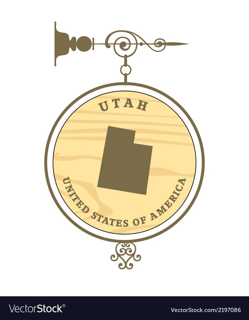 Vintage label Utah