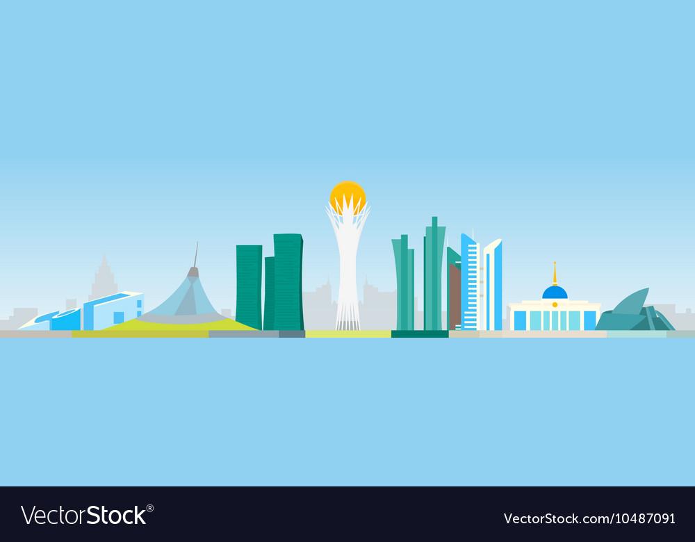 Astana abstract skyline