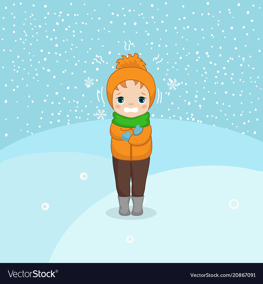 Cold weather boy cold weather boy vector image