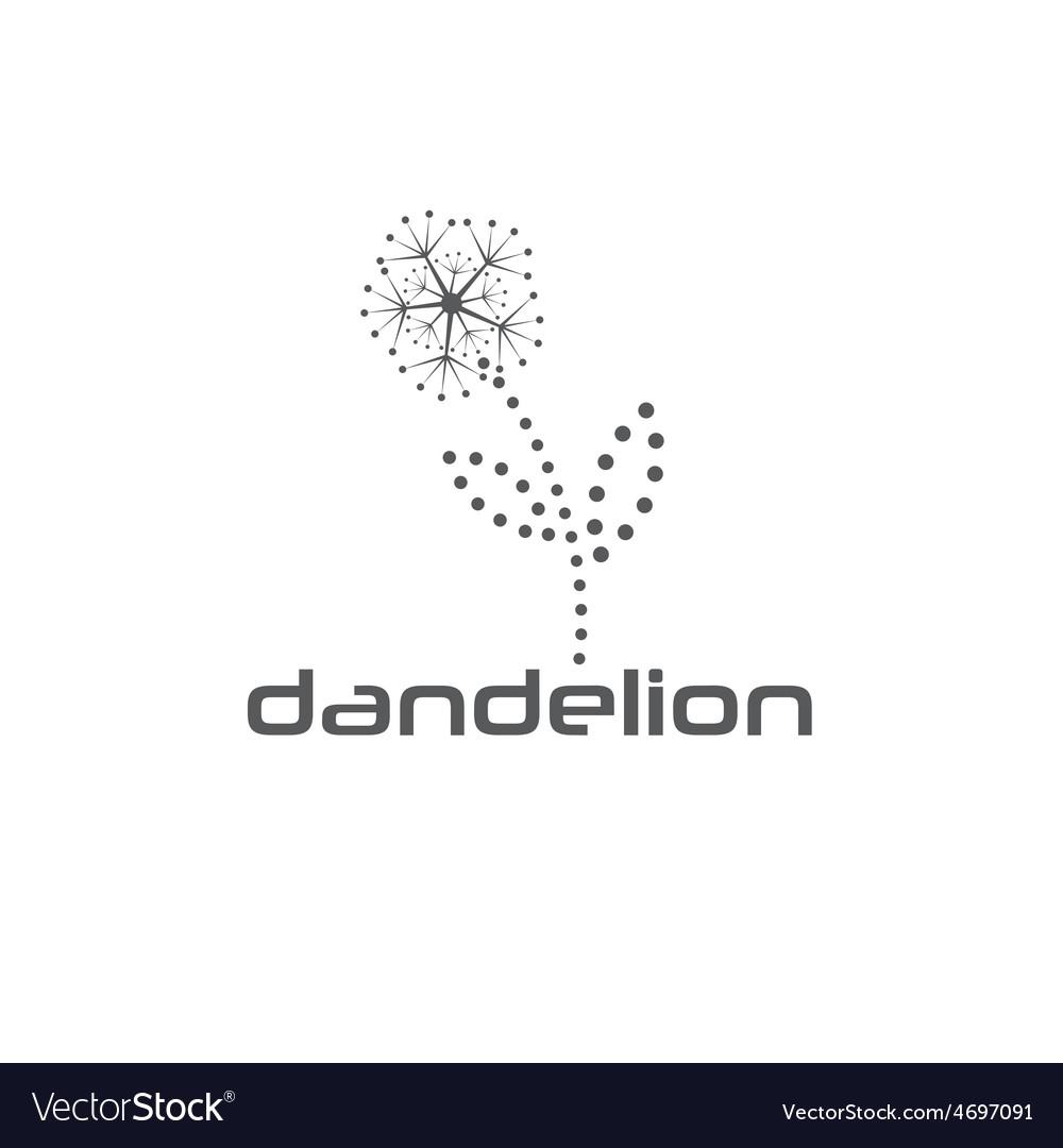 cyber dandelion design template royalty free vector image