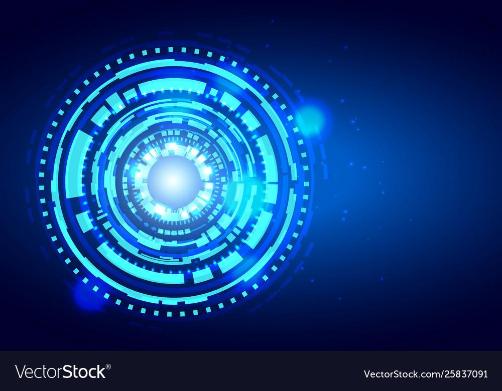 Futuristic hud interface shiny technology shapes