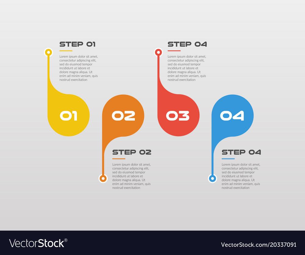 Horizontal steps timeline infographics circle