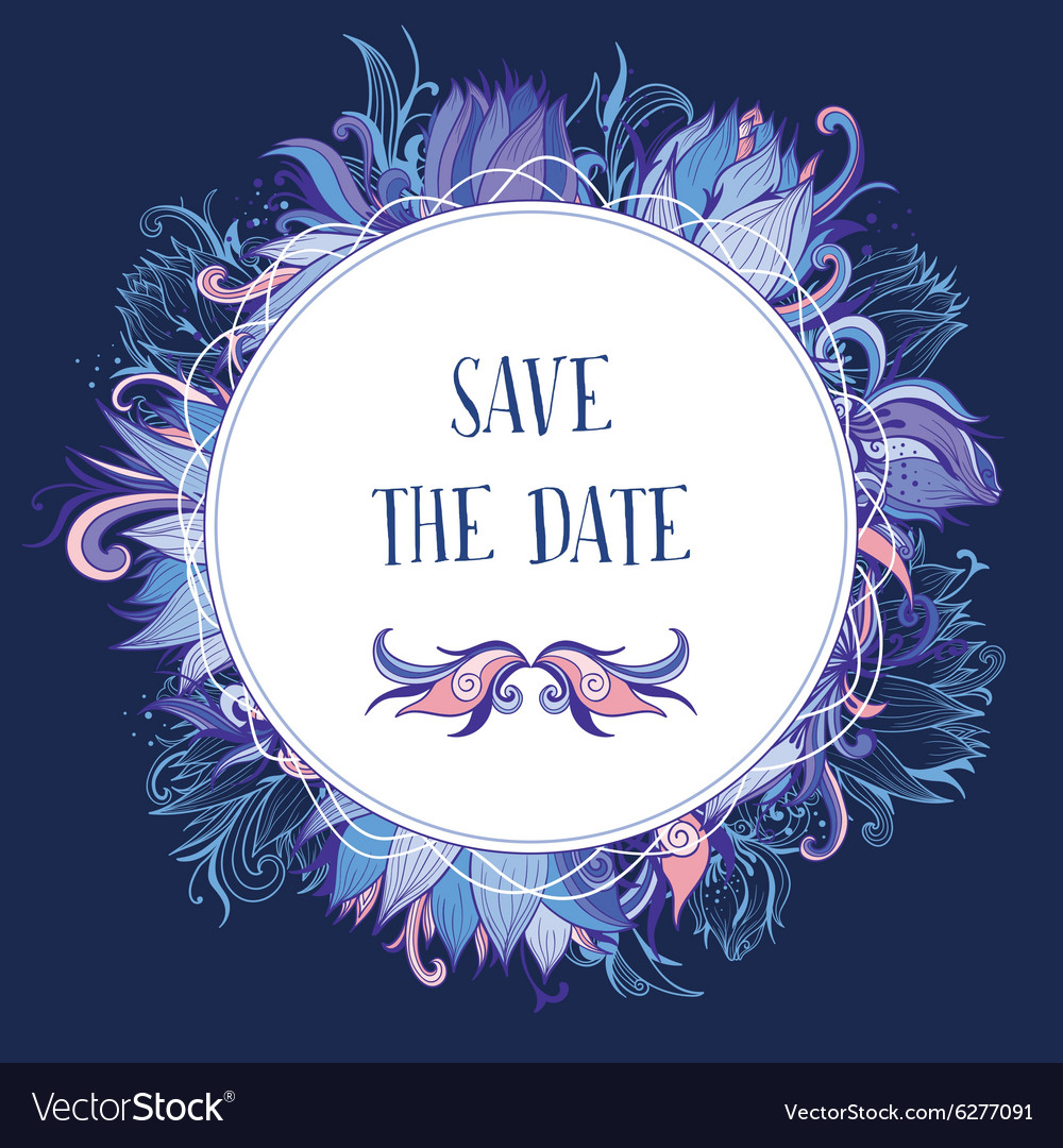 Purple and Blue Wedding Event Invitation Card