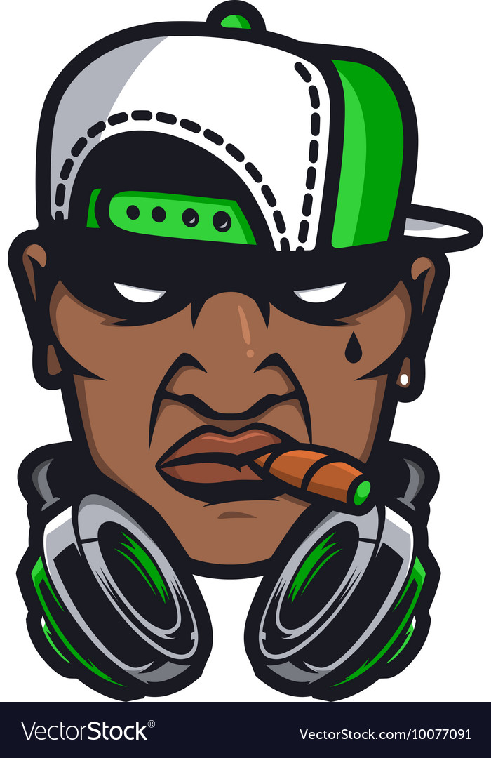Urban HipHop smoking character