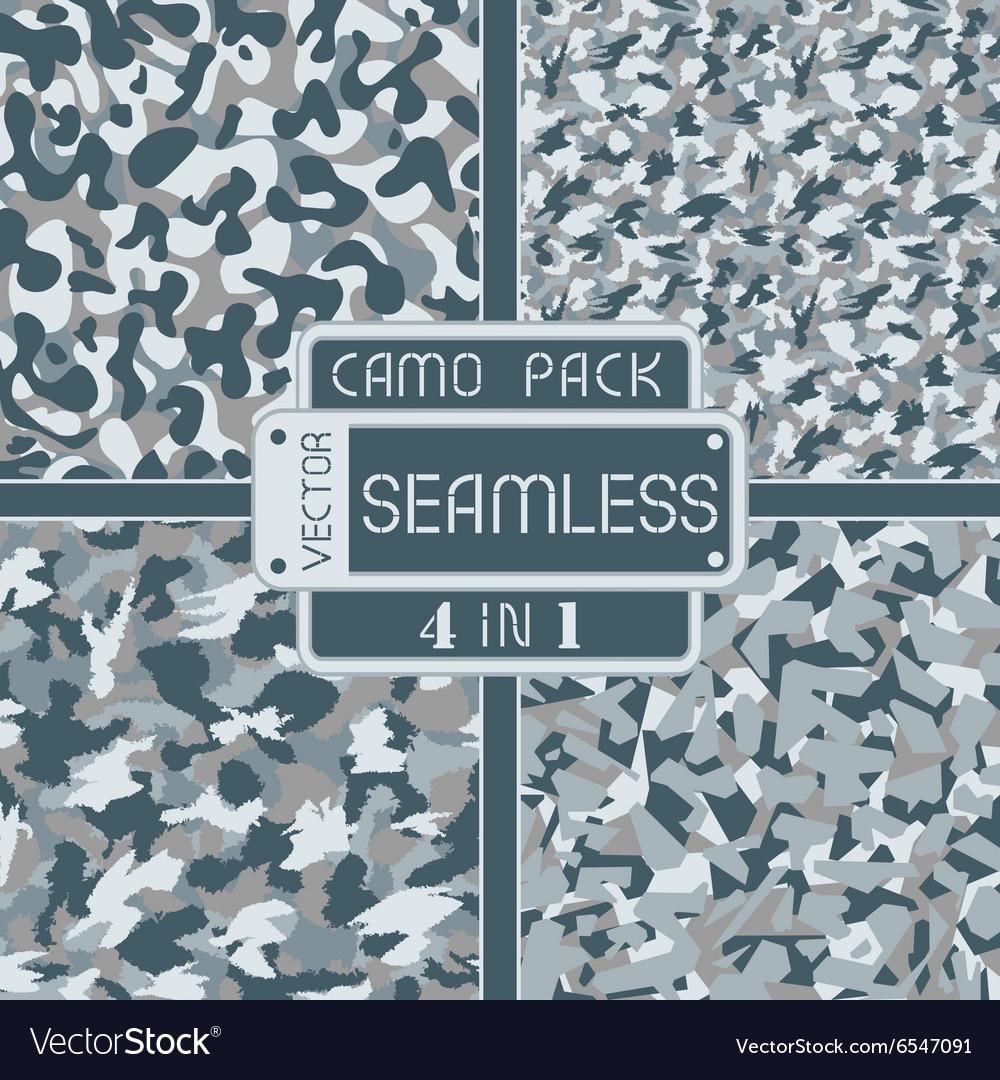 War blue grey urban seamless camouflage pack