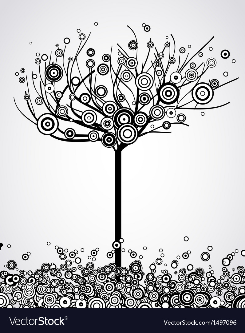 Abstract tree with round leaves